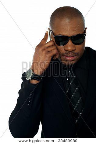 Business Professional Communicating Via Phone