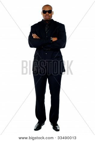 African Corporate Man Standing With Crossed Arms
