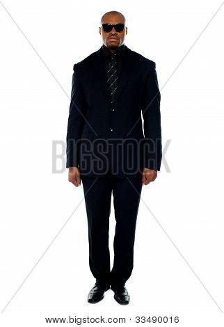 Handsome African Businessman. Full-length Portrait