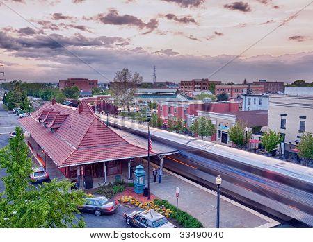 Manassas Railway Station In Virginia Usa