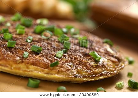 Tortilla Española (tortilla de huevos con patatas y cebolla)