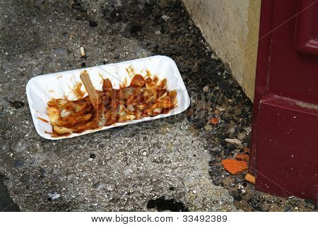Discarded fast food.