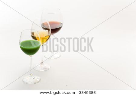 Three Tall Glasses