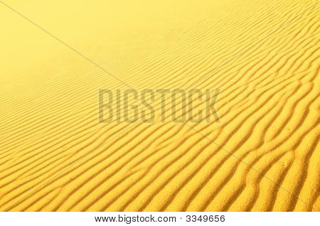 Highly Detailed Texture Of Sand Dunes