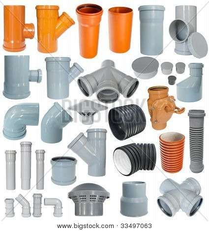 Set Of Pvc Draining Fittings