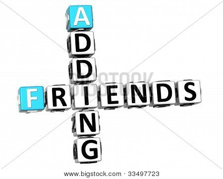 3D Adding Friends Crossword