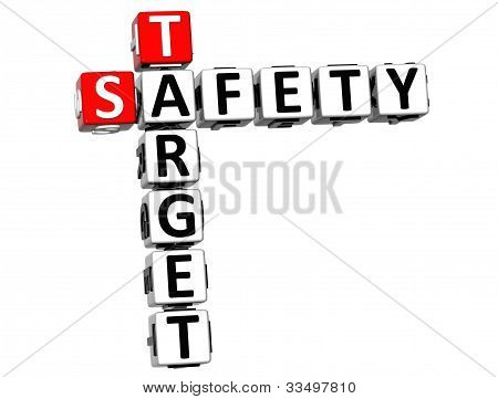 3D Safety Target Crossword