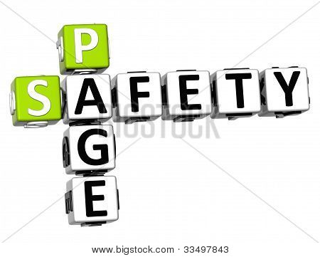 3D Safety Page Crossword