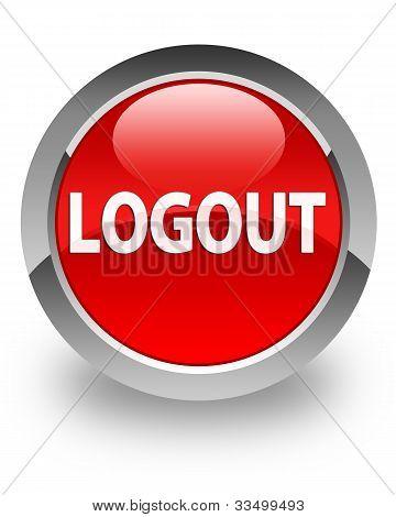 Logout glossy button