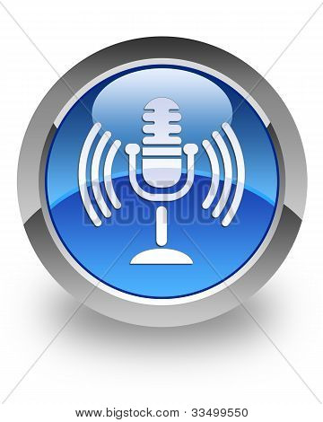 Microphone glossy icon