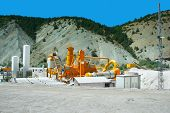 stock photo of movable  - Movable asphalt mixer plants in Turkey - JPG
