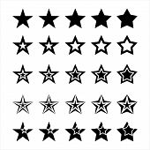 Star, Set Of Stars, Star Icon, Collection Of Star Color Vector Logo, Star Abstract Color Icon, Star  poster
