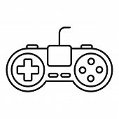 Video Game Addiction Icon. Outline Video Game Addiction Vector Icon For Web Design Isolated On White poster