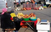 Elderly Woman Selling Fruits On The Street.elderly Woman Selling Fruits On The Street poster
