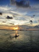 pic of promontory  - beautiful sunset at beach located on the Promontory of the island of Java Karimun - JPG