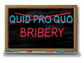 Bribery And Political Corruption As Politics With Quid Pro Quo Replaced With Another Word As An Unet poster