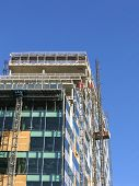 Construction Of Modern Office Building In Liverpool poster