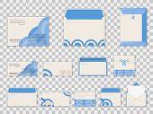 Decorative White Paper Blank Postal Envelopes For Documents, Letter Correspondence. poster
