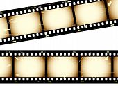 stock photo of strip  - Film strip with grunge effect from a series in my portfolio - JPG