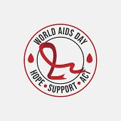 World Aids Day 1St December World Aids Day Hiv Vector Image poster