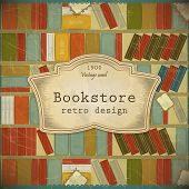 picture of bookworm  - Vintage Book Background in scrapbooking style  - JPG