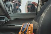 Two Mask Thief Stealing Handbag From Car poster