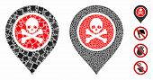 Dangerous Zone Pointer Mosaic Of Joggly Items In Variable Sizes And Color Tints, Based On Dangerous  poster