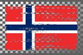 Norway National Flag Isolated Vector Illustration. Travel Map Design Graphic Element. Europe County  poster