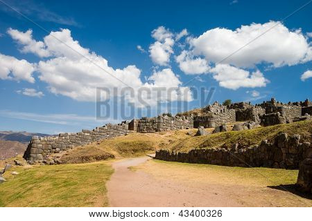 Sacsayhuaman With Beautiful Clouds Road To Cusco