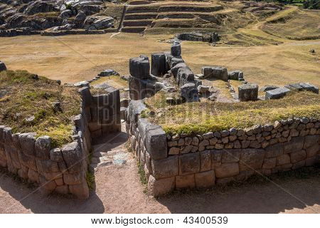 Doorway At Sacsayhuaman Top View