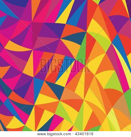 Multi-colored triangles background. Raster version, vector file available in portfolio.