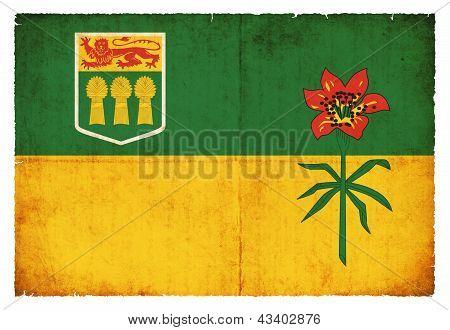 Grunge Flag Of Saskatchewan (canadian Province)