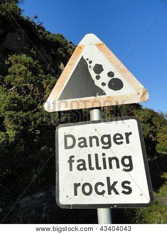 Rockfall Warning Sign