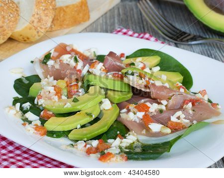 Salad With Avocado An? Prosciutto