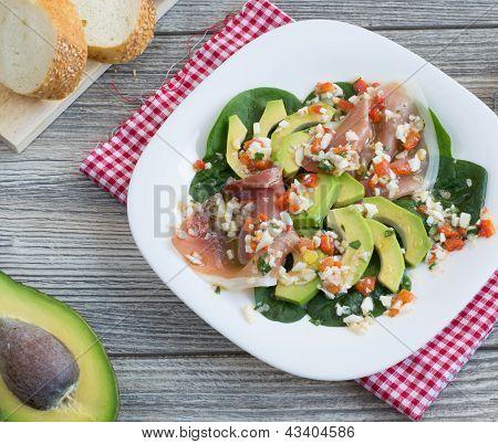 Avocado And Jamon Salad