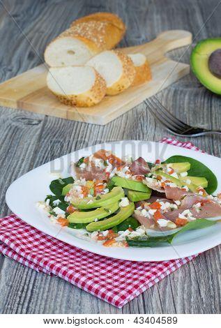 Salad With Jamon And Avocado