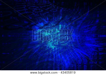 Fondo azul del ciberespacio