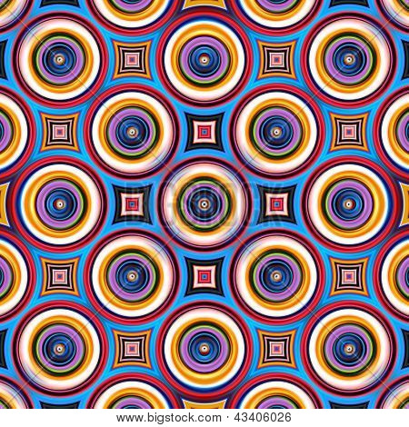 Colorful abstract circle shapes pattern.