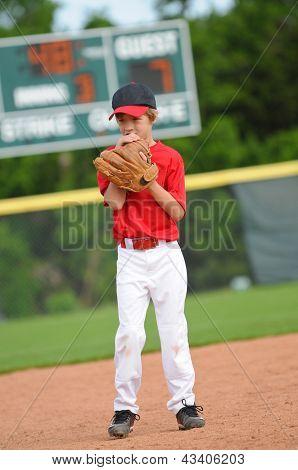 Nervous Baseball Pitcher