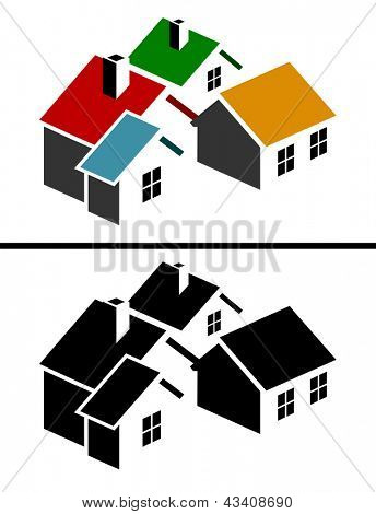 Colorful real estate icon