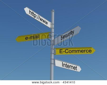 Internet Superhighway Sign Post