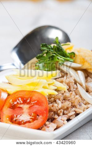 nasi goreng or fried rice in malay