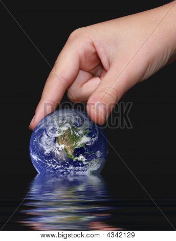 Speichern der Erde