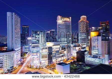 Office buildings in Umeda District, Osaka, Japan.