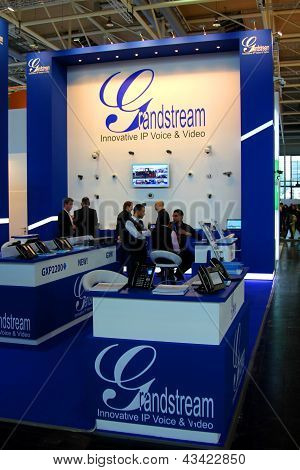 Hannover - March 9: Stand Of Grandstream On March 9, 2013 At Cebit Computer Expo