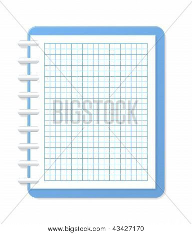 Blank Checkered Notebook. Vector Illustration
