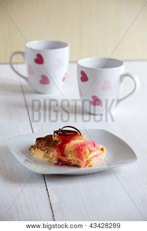 Sweet Crepes With Vanilla Cream