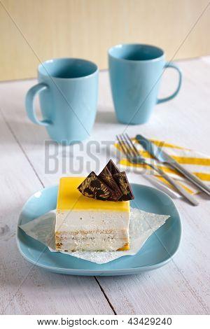 Bavaroise Cake With Lemon Jelly
