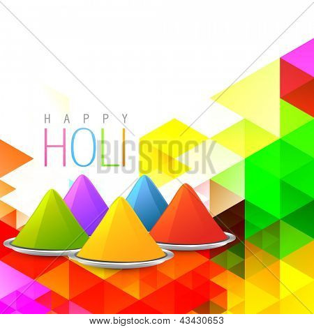 vector holi gulal on colorful background