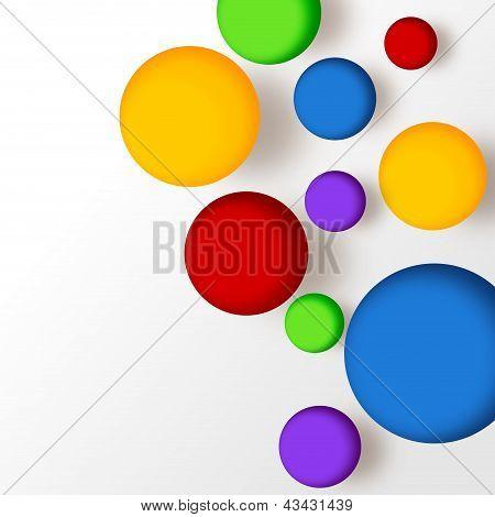 Multicolor balls background